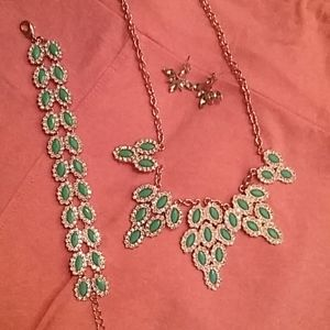 Park Lane Set: necklace and bracelet with earrings
